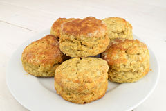 Plate Of Scones Royalty Free Stock Photos