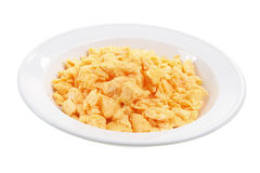 Plate of Scrambled Egg. On White Background Royalty Free Stock Image