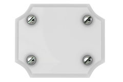 Plate with screw Stock Image