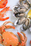 Plate of seafood Royalty Free Stock Photography