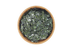 Plate of seaweed in a wooden bowl Stock Photo