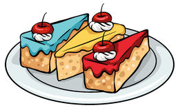 A plate of sellable cakes Royalty Free Stock Photography
