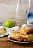 Plate with several portions of apple cake Royalty Free Stock Image