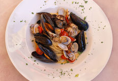 Plate shellfish Stock Photos