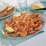 Plate of shrimps Royalty Free Stock Images