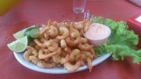 Shrimp dish stock image
