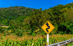 Plate side road to show about condition road like a maze locatio. N is very high at Mountain Chiangrai,  Thailand Stock Image
