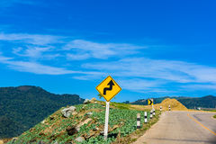 Plate side road to show about condition road like a maze locatio. N is very high at Mountain Chiangrai,  Thailand Royalty Free Stock Photography
