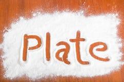 Plate sign, Flour Artwor Stock Photography