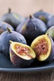 Plate of sliced figs Royalty Free Stock Images