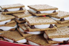 Plate of smores. Shot of a plate of smores Royalty Free Stock Photography