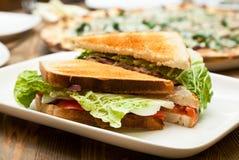 plate smörgåsen Royaltyfri Fotografi