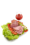 Plate with snack from bacon Stock Photography