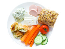 Plate with snacks Stock Photos