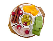 Plate with snacks Royalty Free Stock Image