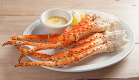 Plate of Snow Crab Legs Royalty Free Stock Images