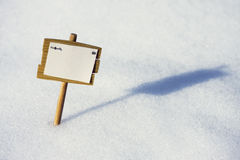 Plate in the snow Royalty Free Stock Images