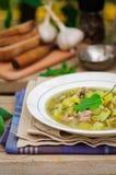 A Plate of Sorrel Soup Stock Photos