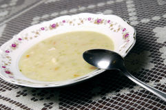 Plate with soup Royalty Free Stock Image