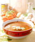 Plate of soup Royalty Free Stock Image