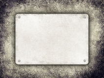 Plate with space for text on grunge background Royalty Free Stock Image