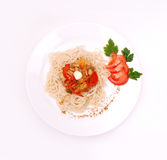 Plate of spaghetti Royalty Free Stock Photos