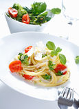 A plate of Spaghetti Broccoli Stock Image