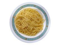 Spaghetti isolated on white background Royalty Free Stock Images