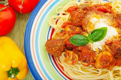 Spaghetti & Meatballs Royalty Free Stock Photography
