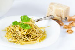 Plate With Spaghetti Royalty Free Stock Images