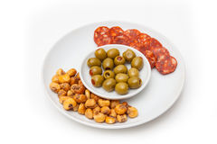 Plate of Spanish tapas Royalty Free Stock Photo