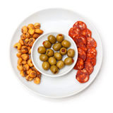 Plate of Spanish tapas Royalty Free Stock Photography