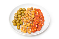 Plate of Spanish tapas Stock Photography