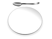 Plate and spoon Stock Photo