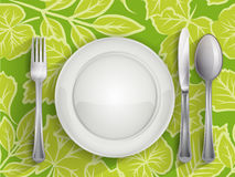Plate spoon knife and fork Royalty Free Stock Photos