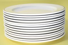 Plate stack Stock Image