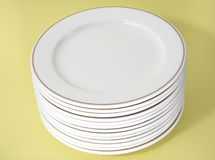Plate stack 2. A stack of eating plates Stock Photography