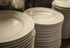 Plate stack Royalty Free Stock Images
