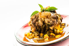 Plate with stewed oxtail Stock Photo