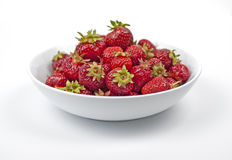 Plate of strawberries. Royalty Free Stock Image