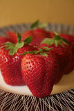 Plate of Strawberries Royalty Free Stock Image