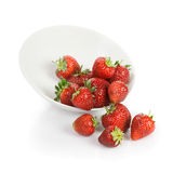 Plate with Strawberries Royalty Free Stock Photo