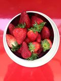 The plate of strawberries Royalty Free Stock Photo