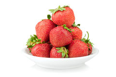 Plate with strawberry Royalty Free Stock Image