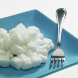 Plate with sugar Stock Photos