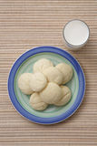 Plate of sugar cookies Stock Photos