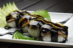 Plate of Sushi Royalty Free Stock Photo