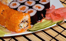 A plate with sushi Royalty Free Stock Photography