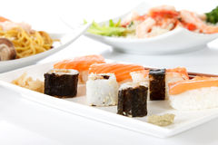 Plate with sushi Stock Images