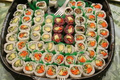 Plate of  sushi Stock Image